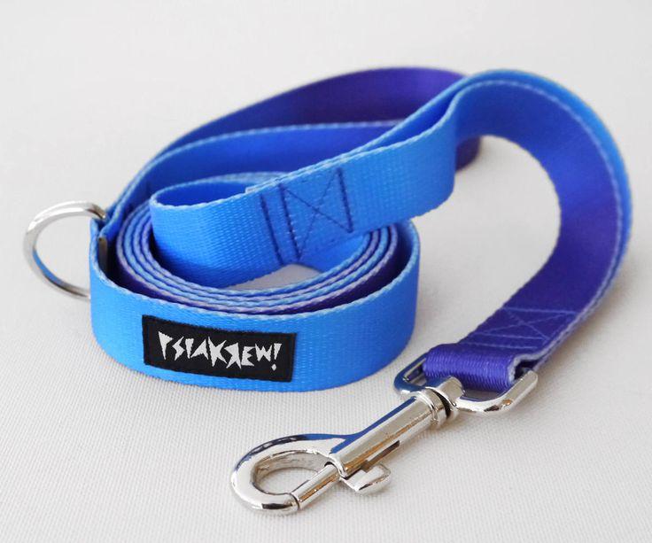 "Dog Leash Deep Ocean width 2.5 cm, 1"", colorful designed pet leashes Psiakrew by PSIAKREW on Etsy"