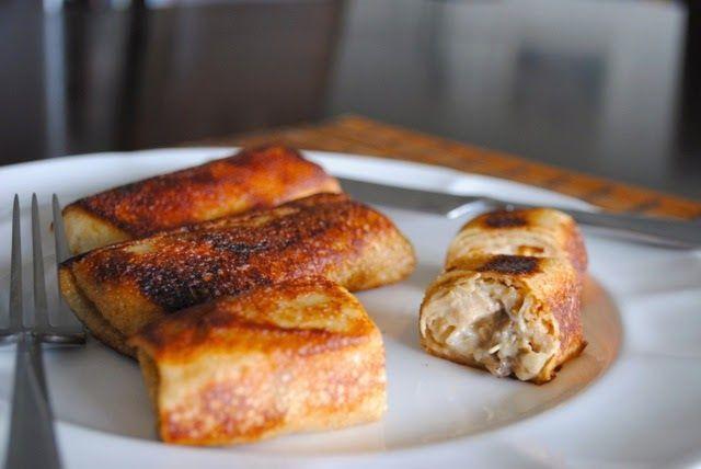 Невыразимая легкость кулинарного бытия...: Блины с курицей и грибами в сливочном соусе