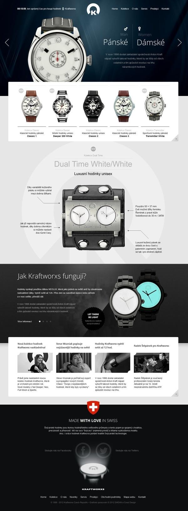 Kraftworxs Watches by Roman Káčerek, via Behance