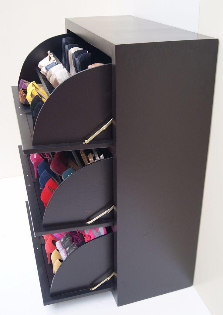 Las 25 mejores ideas sobre muebles para zapatos en for Zapateras para closet madera
