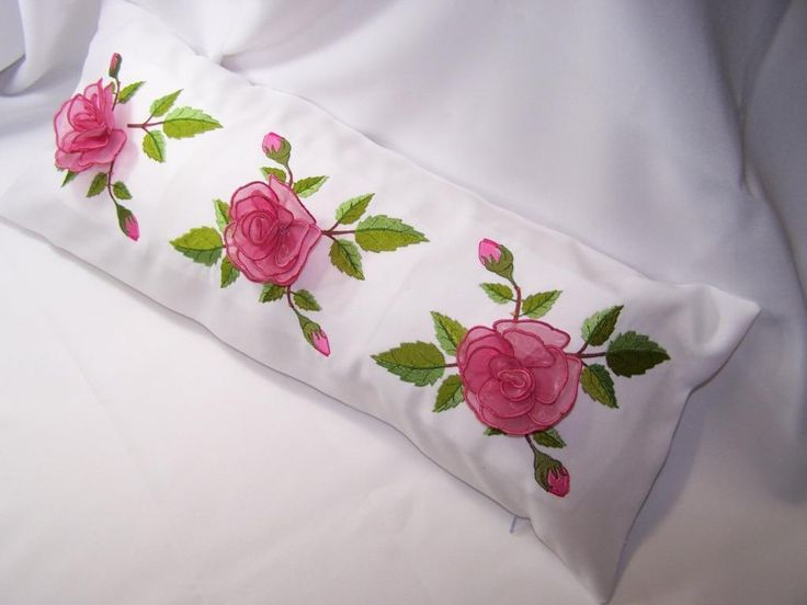 Looking for your next project? You're going to love Rose Border Pillow by designer Embroidershoppe. - via @Craftsy