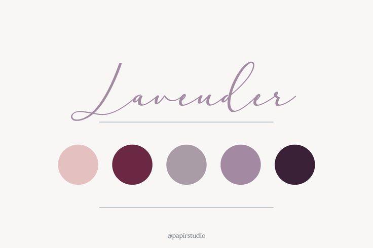 Lavender color palette  // pink, lilac, wedding, color inspiration