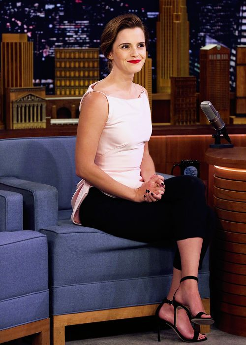 """Emma Watson at The Tonight Show Starring Jimmy Fallon // April 27, 2017. """