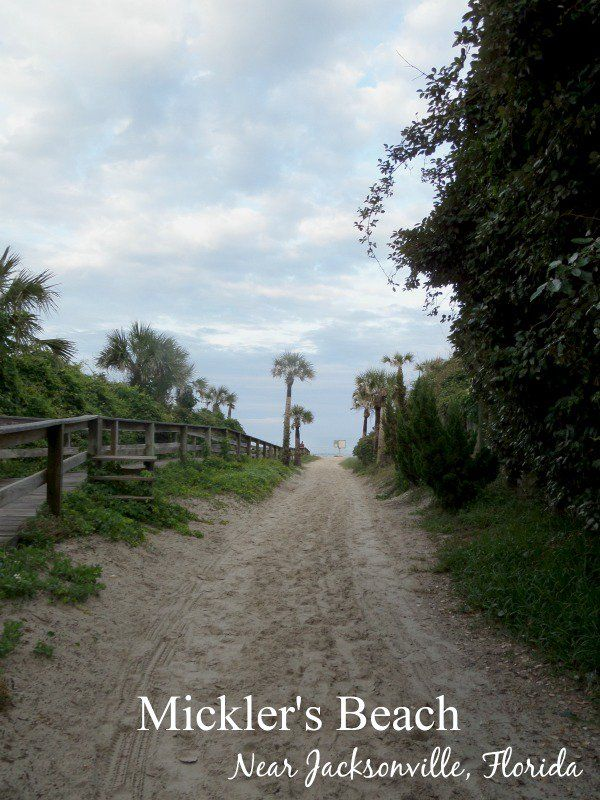 Mickler's Beach near Jacksonville, Florida is a short drive from I-95 making it the perfect spot to stretch your legs on your next road trip.