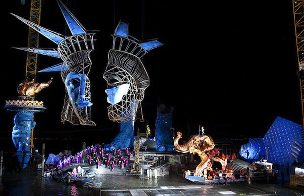 The Floating Stage of the Bregenz Festival In Austria - Aida, Verdi
