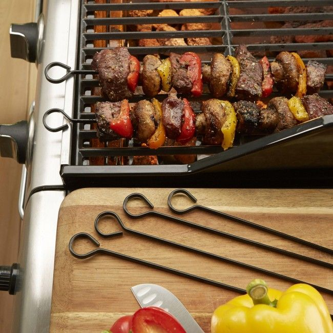 Our Outset BBQ Non-Stick Kabob Skewers will have you making delicious shish-kabobs all summer long!
