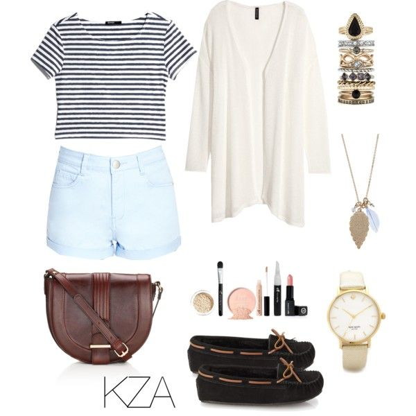 Shorts with stripes top. Check out my polyvore for more ideas!