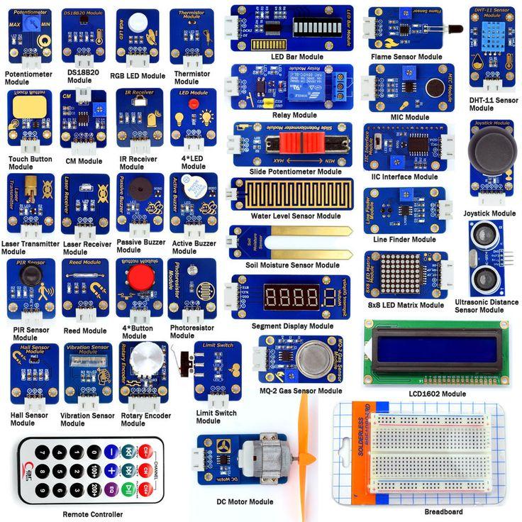Adeept Sensor Module Ultimate Starter Kit for Arduino UNO R3 Mega2560 Processing…