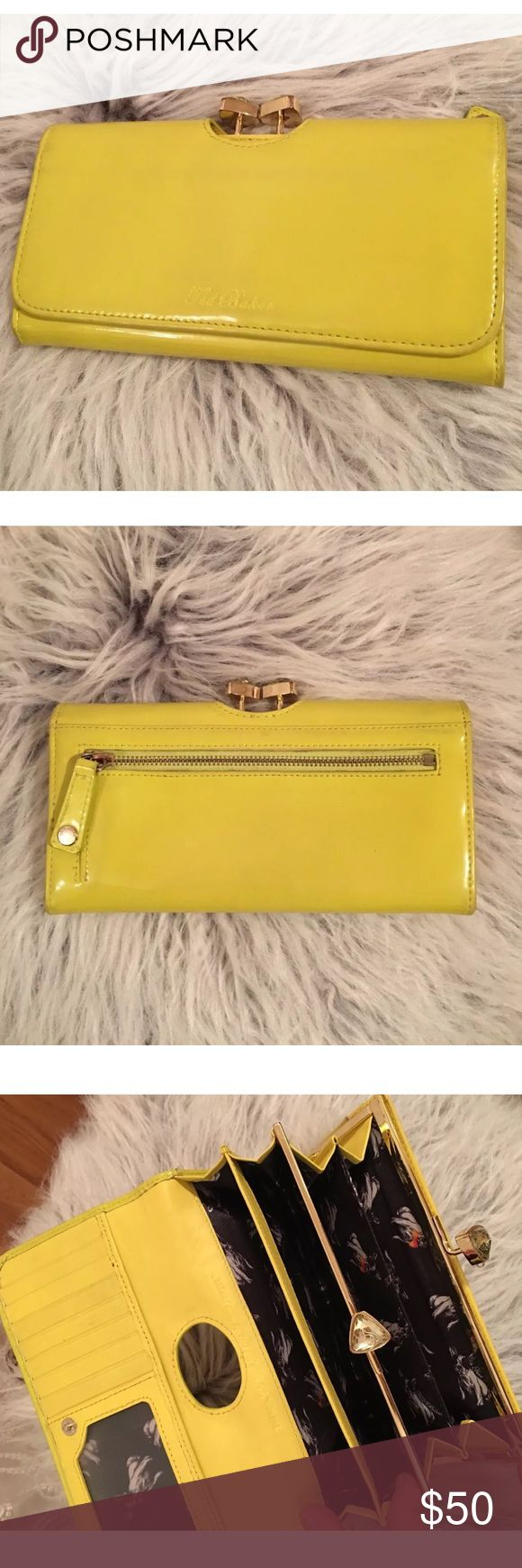 💥FLASH SALE💥 Ted Baker London yellow wallet Very beautiful wallet, bow clutch and patent neon leather. Offers welcome Ted Baker Bags Wallets