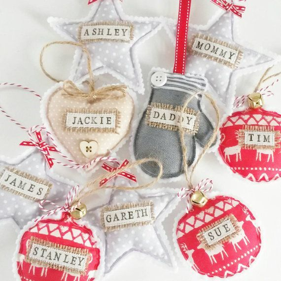 Resultado de imagen para personalized christmas decorations