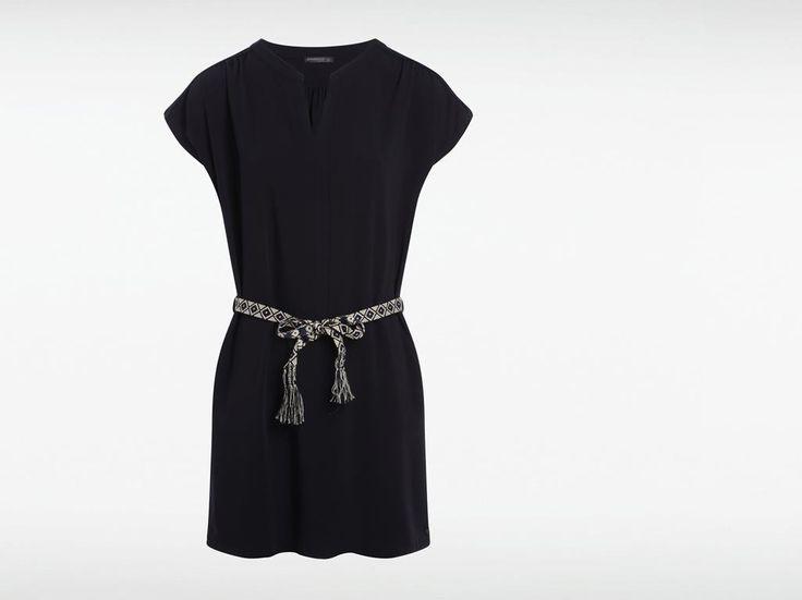 Robe femme unie ceinture ethnique