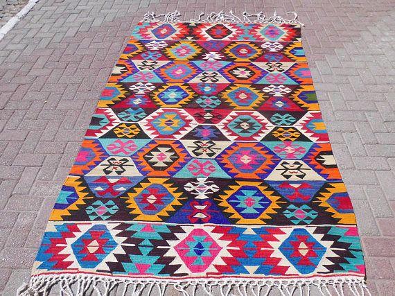 Turkish kilim rug wool area rug living area area rugs