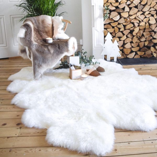 Super Large 6ft X White Sheepskin Rug Throw The Leja To 484 Liked On Polyvore Featuring Home Rugs Floor Grey Living