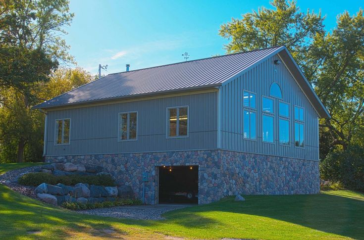 Morton Buildings Garage With Walk Out Basement