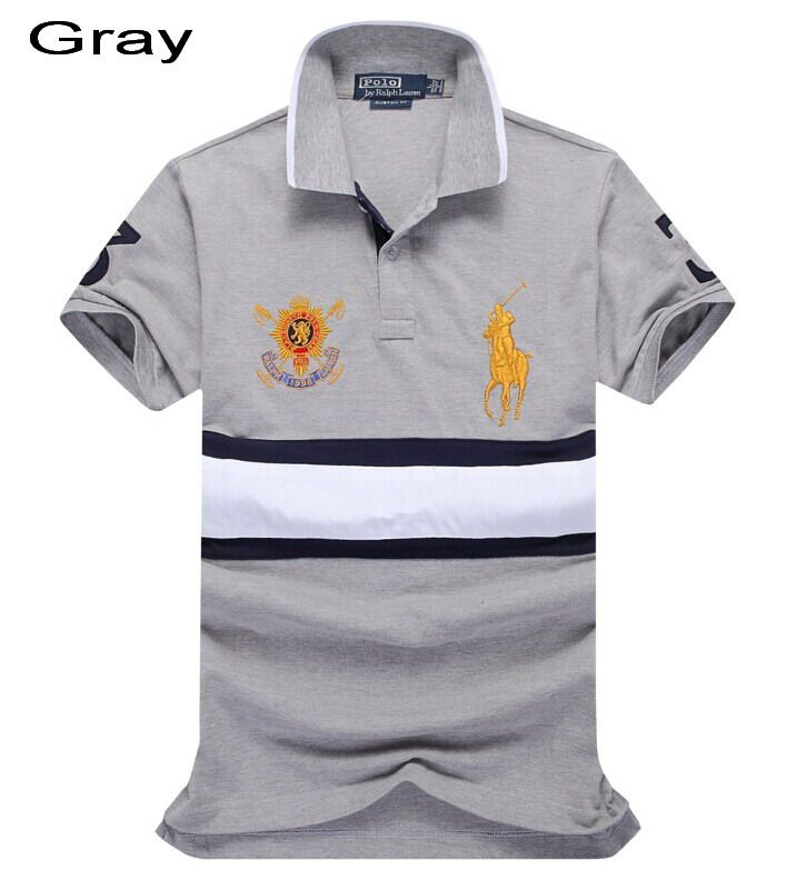 Ralph Lauren Trim-Fitting Ruby Black Watch Big Pony Polo Gray Outlet