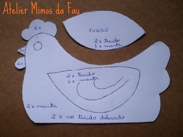 Molde Galinha Porta Ovos | Flickr: partage de photos!