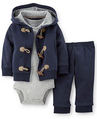 Carter's Baby Boys' 3-Piece Cardigan, Bodysuit & Pants Set - Kids Baby Girl (0-24 months) - Macy's