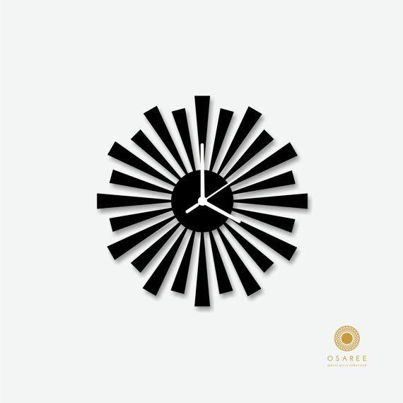 Triangle Shape modern wall clock, Laser Cut, Wall, Art, Decor, Designer Wall Clock