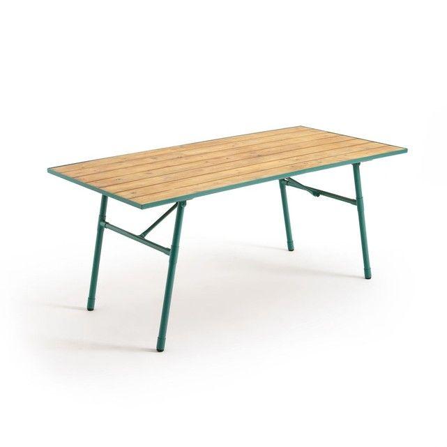Table de jardin pliante bois et métal Sohan | Pinterest
