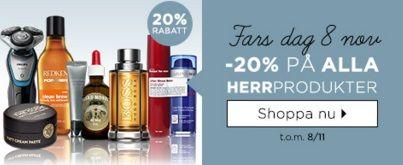 Mode Världen: Erbjudande ! 20 % på alla herrprodukter - Glöm inte fars dag den 8 November - Sänd ett paket med lyxiga produkter i present