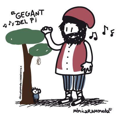 EL gegant del Pi, tradicional català by mònica ramoneda | DISSENYADORA GRÀFICA I IL·LUSTRADORA A BARCELONA