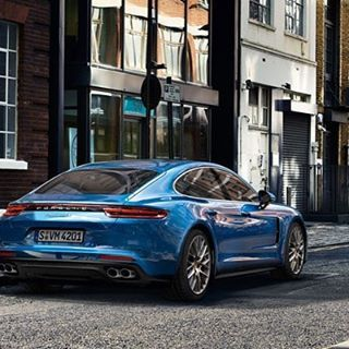Thoughts on the new Panamera? (Love this blue!) #porsche #new #panamera #love #cars #lovecars #blue #speed #vehicle #street
