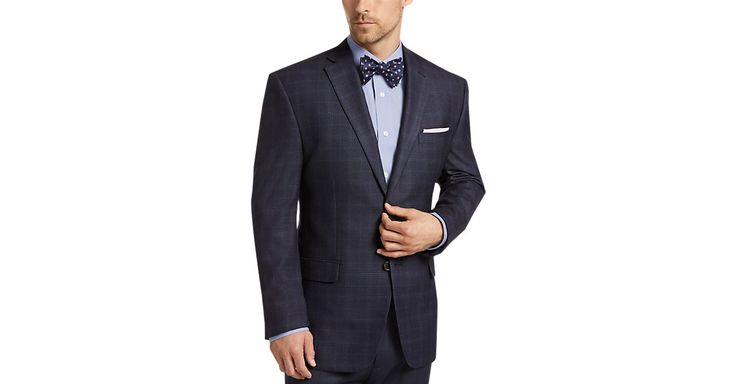 Check this out! Lauren by Ralph Lauren Blue Plaid Sport Coat - Men's Sport Coats from MensWearhouse. #MensWearhouse