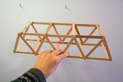 A popsicle stick bridge and ideas for learning about bridges