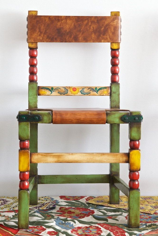 I don't have a chair like this but it would be interesting to paint any type of chair multiple colors.