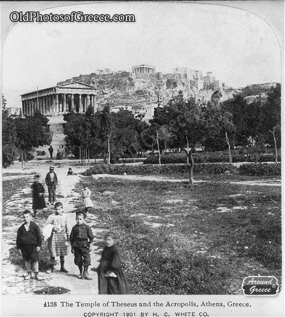 Theseus Temple and the Acropolis of Athens (c1901)