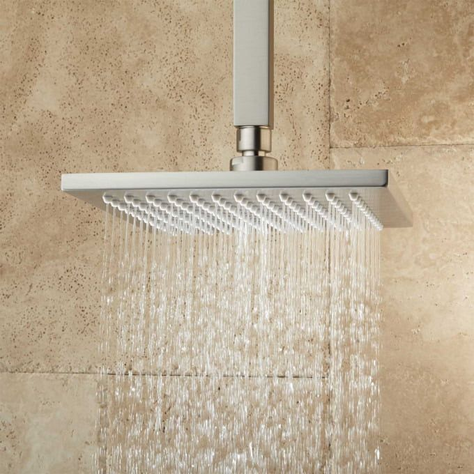 Devereaux Ceiling Mount Shower Head With Square Arm Shower Heads