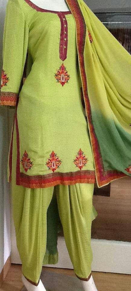 Lovely green punjabi suit
