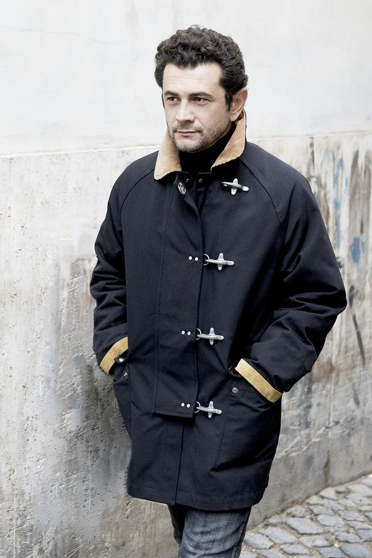 Embracing a casual attitude. Actor Vinicio Marchioni spotted wearing his Fay 4 Ganci Jacket.