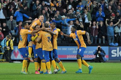 Mansfield goal NOTTS COUNTY - MANSFIELD TOWN 0 : 2 Meadow Lane 14/08/2015 Copyright B&O Press Photo