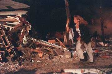 Jo and the team get to Wakita after the tornado has hit. Jo rushes to Aunt Meg's damaged house in hopes of rescuing her.