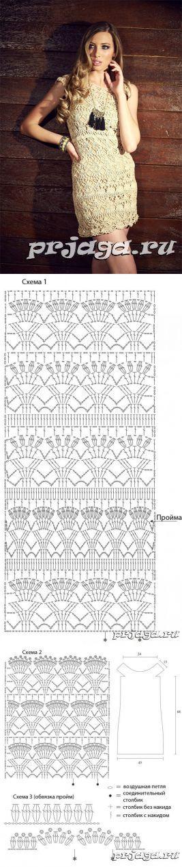 Crochet Dress Diagram #crochet