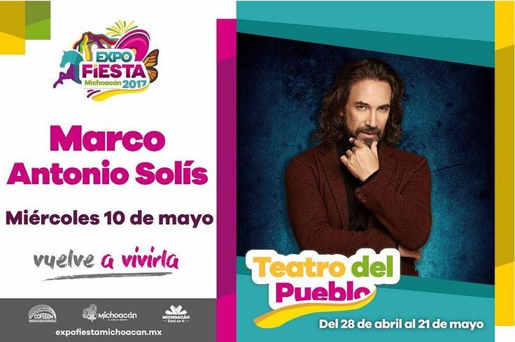 """Con motivo del Día de la Madre y por segundo año consecutivo, esta noche Marco Antonio Solís """"El Buki"""" ofrecerá un concierto gratuito en el Teatro del Pueblo de la ..."""