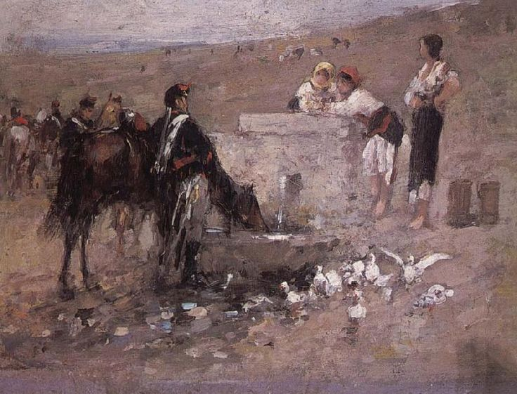 Girls and Young Men by the Well, Nicolae Grigorescu