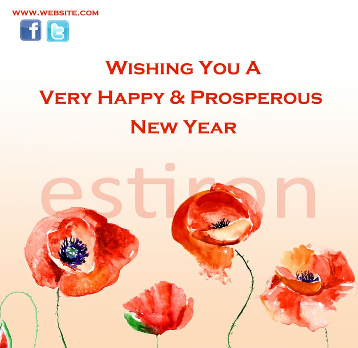Sample new year greeting card...