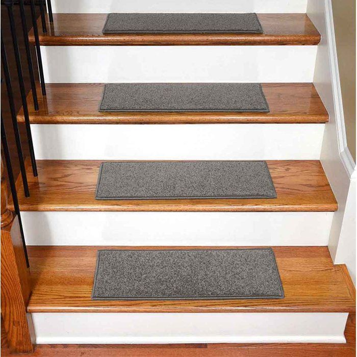 Bazemore Solid Color Non Slip Rubber Backed Stair Tread Carpet Interior Diy Carpet Carpet Stairs Carpet Stair Treads