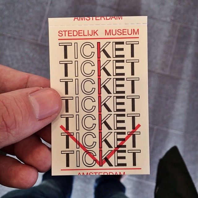 too many design   stedelijk museum ticket