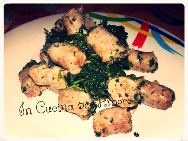 #salsiccia e #spinaci #food #carne #secondi #foodblogger #giallozafferano #gialloblog