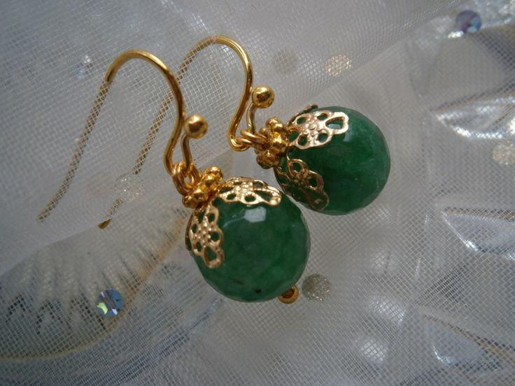 Ohrringe,Achat in smaragd, grün von kunstpause auf DaWanda.com