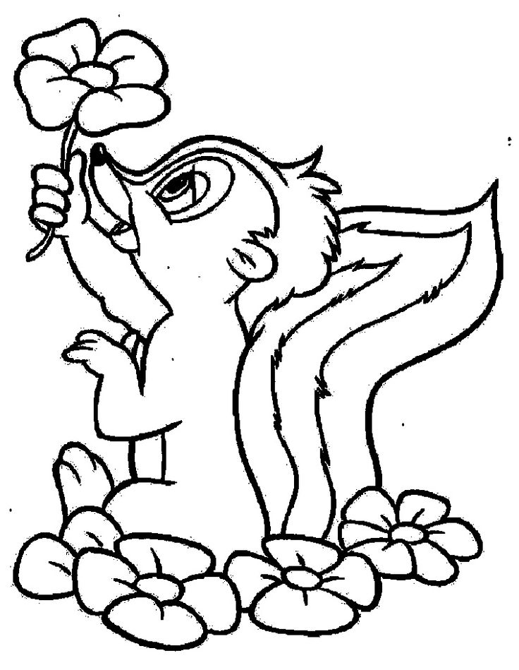 dustin bambi coloring pages - photo#13