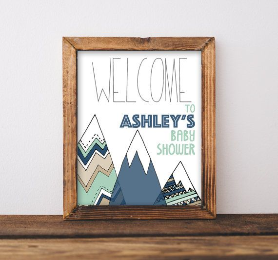 Baby Shower Welcome Sign Printable Adventure by ...