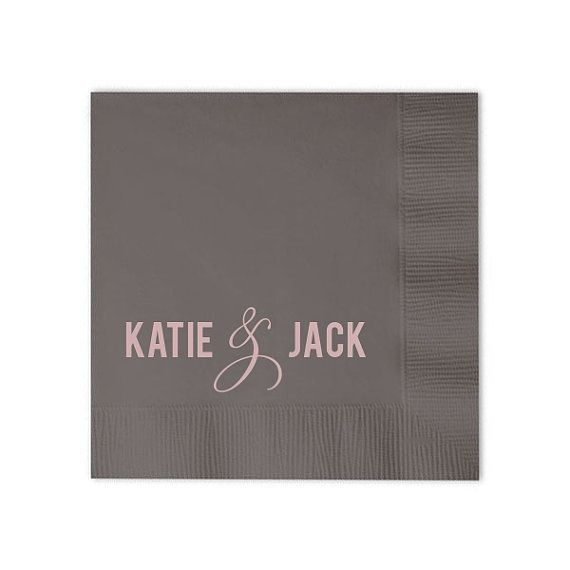 Custom Napkins with Names  Set of 100 by GraciousBridal on Etsy, $36.00