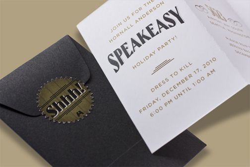 Roaring Twenties Speakeasy party invitations