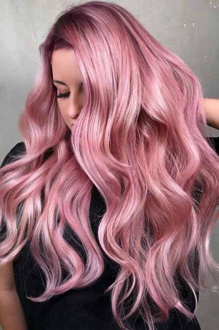 60 Ideen Haarfarbe Highlights Roségold Haarfarbe – hair