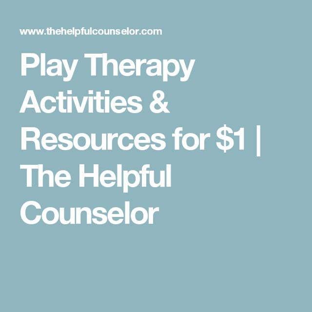 Play Therapy Activities & Resources for $1 | The Helpful Counselor