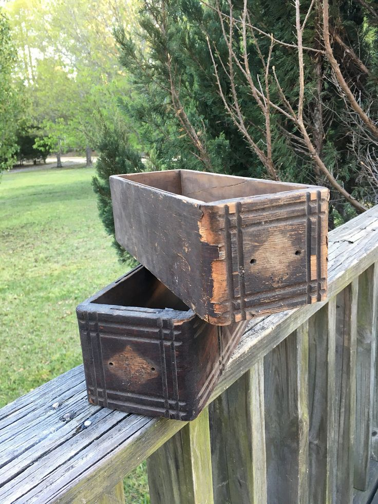 2 Vintage Wooden Sewing Machine Cabinet Drawers--Wonderful Storage Boxes-Wood Cabinet Drawers--Shabby Cottage Farmhouse Style by AlloftheAbove on Etsy